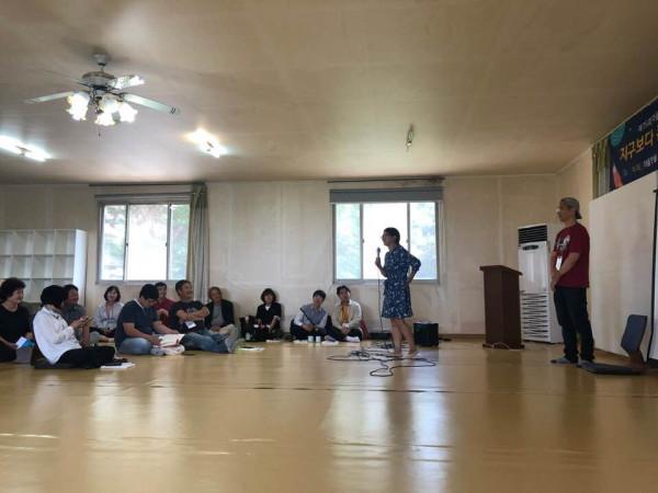 마을만들기 대화모임은 참가자 자기소개로 시작합니다. 대화모임은 서로의 자발적 참여에 의해서 서로가 열어가야합니다.